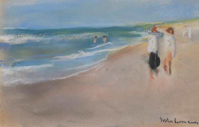 Max Liebermann (German, 1847-1935) Untitled (At the shore) 5 x 7 3/4in (12.7 x 19.7cm)