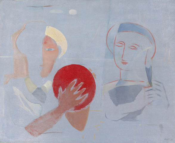 Francisco Borès (Spanish, 1898-1972) Luz azul, 1936 25 3/4 x 32in (65.4 x 81.3cm)