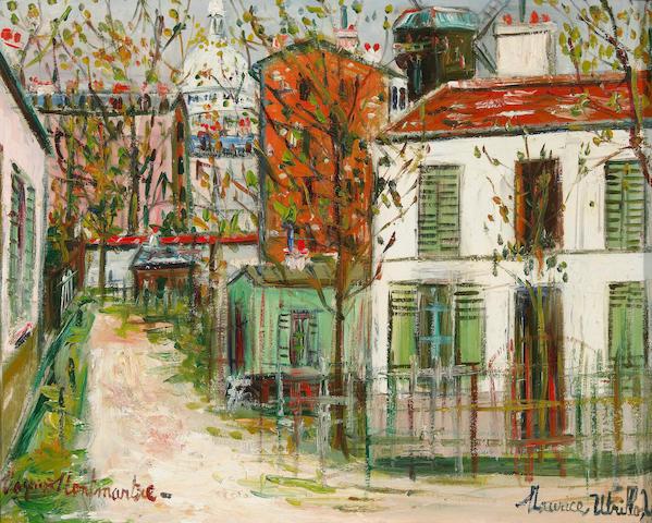 Maurice Utrillo (French, 1883-1955) Le maquis de Montmartre 13 x 16 1/4in (33 x 41.2cm)