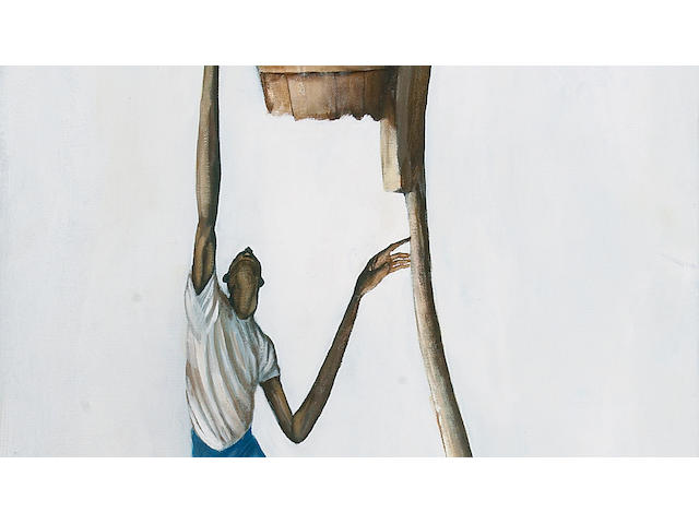 Ernie Barnes, Untitled, oil on canvas