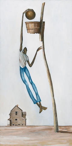 Ernie Barnes, Untitled, oil on canvas