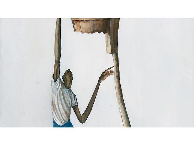 Ernie Barnes (American, born 1939) Untitled 36 x 18in