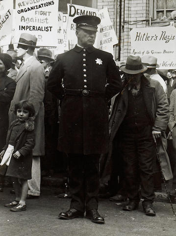Dorothea Lange (American, 1895-1965); Street Demonstration, San Francisco;