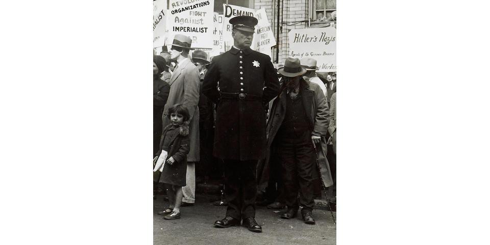 Dorothea Lange (American, 1895-1965); Street Demonstration, San Francisco;