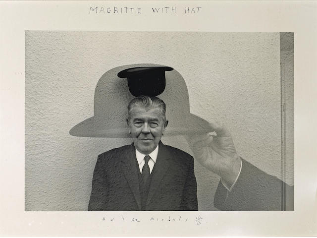 Duane Michals (American, born 1932); Magritte with Hat;