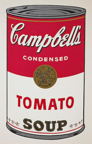 Andy Warhol (American, 1928-1987); Tomato, from Campbell's Soup I;