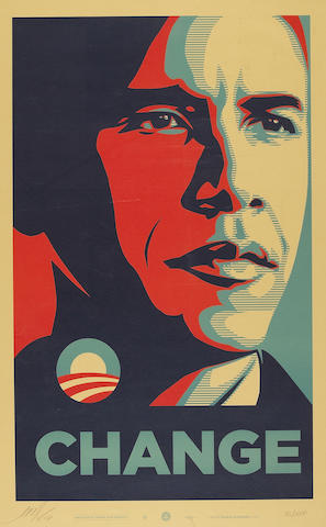 Shepard Fairey (American, born 1970); Change;