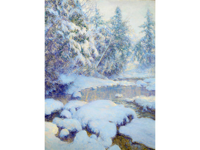 (n/a) Walter Launt Palmer (American, 1854-1932) A Stream in Winter 40 x 30in