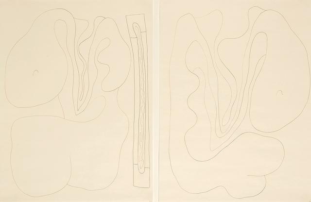 William Brice (American, 1921-2008) Untitled, 1992 (2) each 24 x 18in