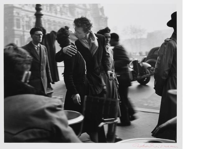 Robert Doisneau (French, 1912-1994); Le Baiser de l'Hôtel  de Ville ;
