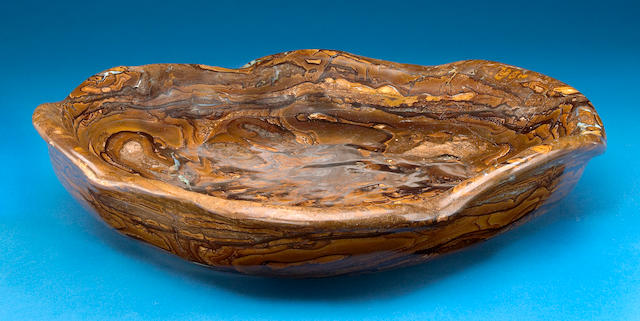 Large Carved Boulder Opal Bowl