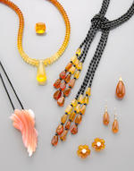 Suite of Orange Opal Jewelry