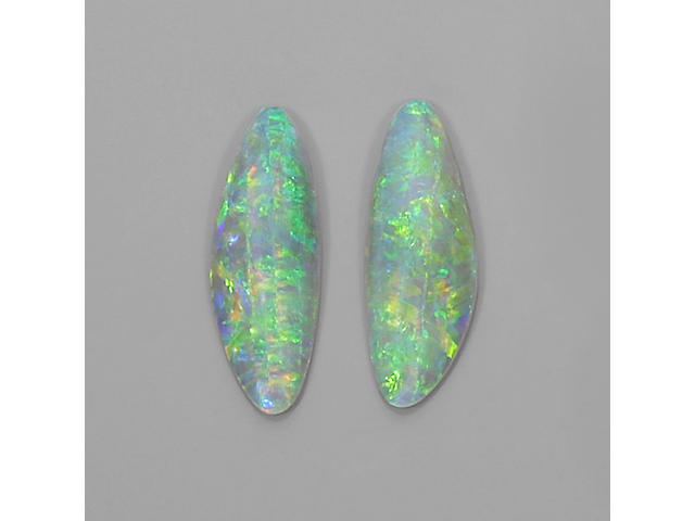 Pair of Fine Crystal Opals
