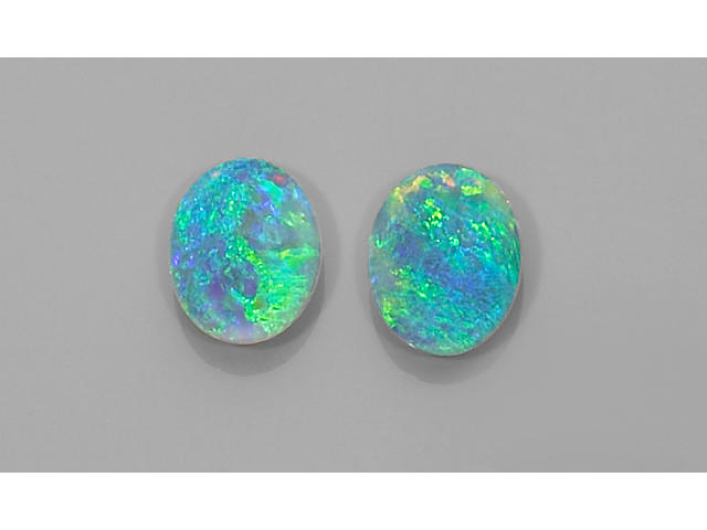 Exceptional Pair of Crystal Opals