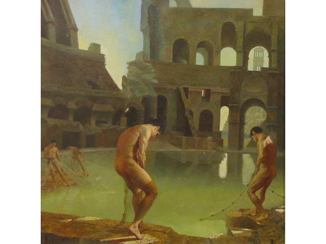 Al Proom, Male nudes in pool