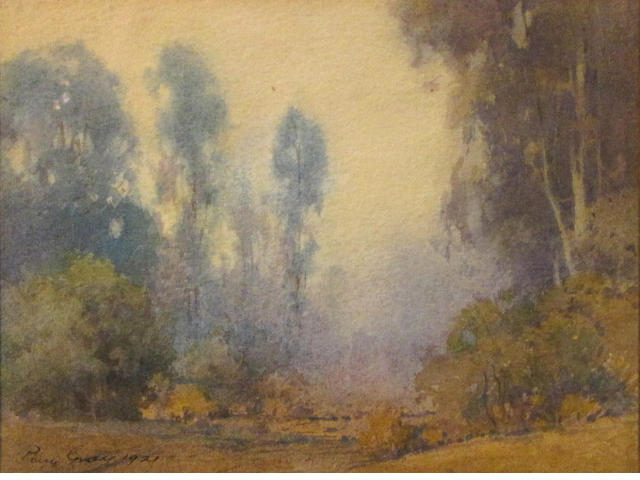 Percy Gray (1869-1952) Misty morning, California, 1921 sight: 6 3/4 x 9in