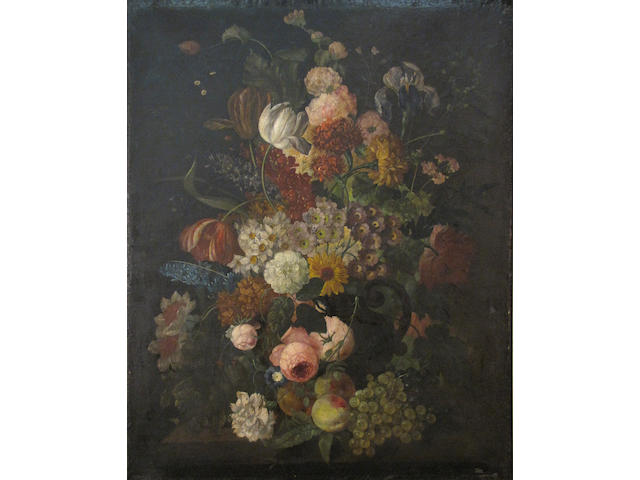 after Rachel Ruysch Floral still lifes (a pair)