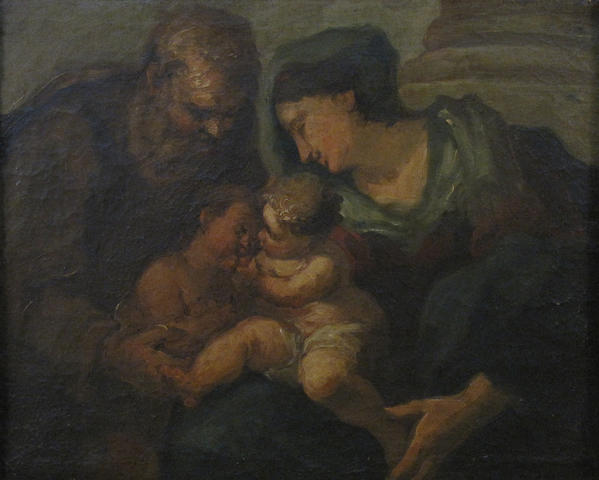 Italian School The Holy family 18 1/2 x 23 1/4in