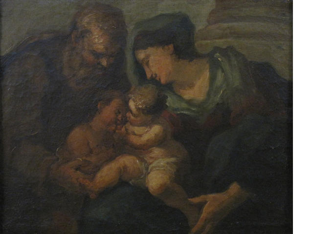 Italian School The Holy family 18 1/2 x 23 1/4in