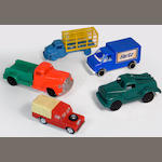 Plastic toy vehicles