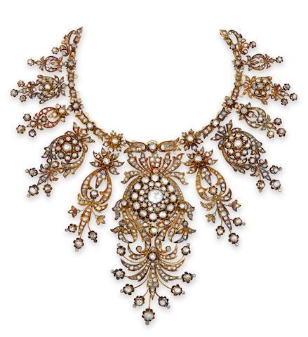 An antique diamond necklace,