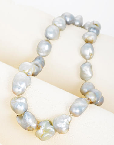 A South Sea cultured pearl necklace, Andrew Grima,