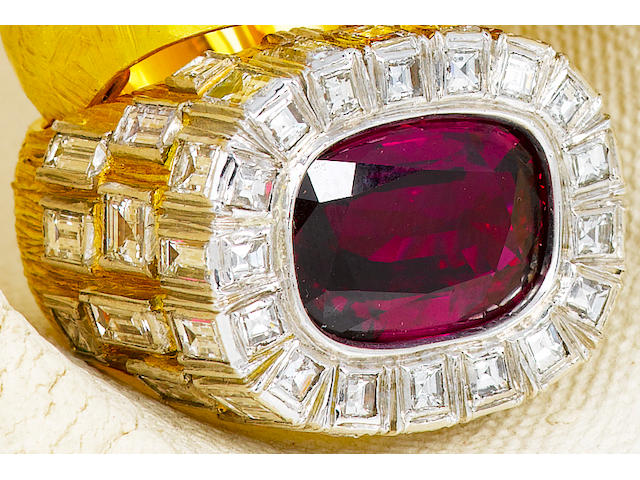 A ruby and diamond ring, Andrew Grima