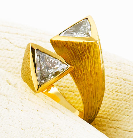 A diamond two-stone ring, Andrew Grima