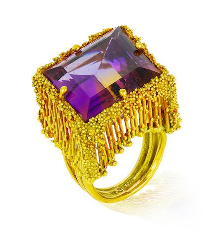 An ametrine and eighteen karat gold ring, Takashi Wada