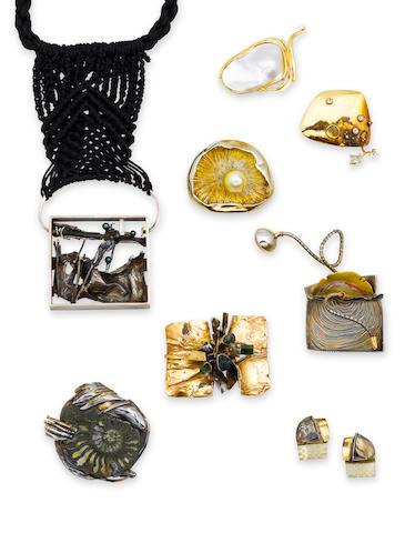 A collection of sculptural jewelry, Glenda Arentzen
