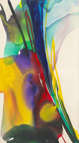 Paul Jenkins (American, born 1923) Phenomena from Home, 1964 36 x 20in (91.5 x 50.8cm)