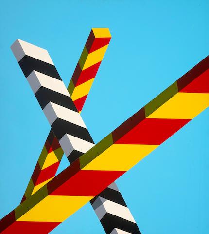 (n/a) Allan D'Arcangelo (American, 1930-1998) Landscape Bars #4, 1968 40 x 36in (101.6 x 91.4cm)