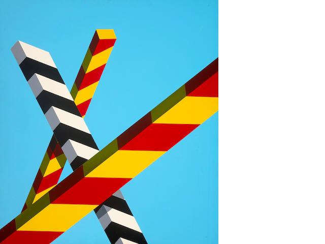 Allan D'Arcangelo (American, 1930-1998) Landscape Bars #4, 1968 40 x 36in (101.6 x 91.4cm)