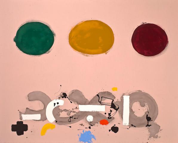 Adolph Gottlieb (American, 1903-1974) Green, Ochre, Maroon, 1969 48 x 60in (122 x 152.4cm)