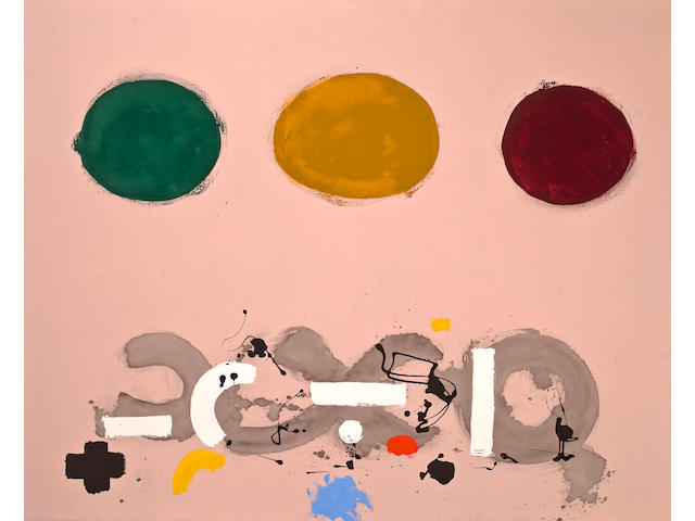 (n/a) Adolph Gottlieb (American, 1903-1974) Green, Ochre, Maroon, 1969 48 x 60in (122 x 152.4cm)
