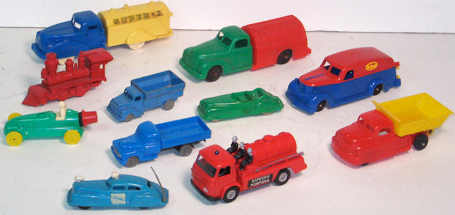 Assorted plastic toys