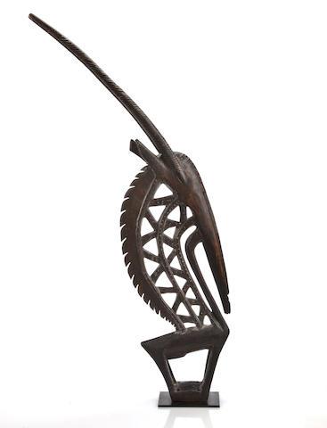 Bamana Antelope Headdress, Chiwara, Mali