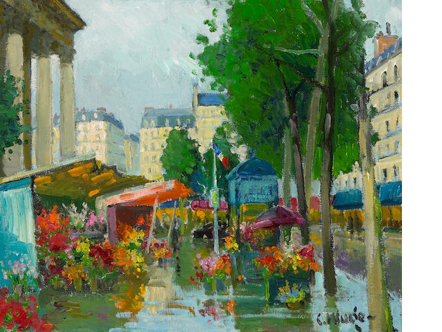 Constantin Kluge (Latvian/French, 1912-2003) Place de l'Opéra, c. 1974 23 3/4 x 29in (60.3 x 73.7cm)