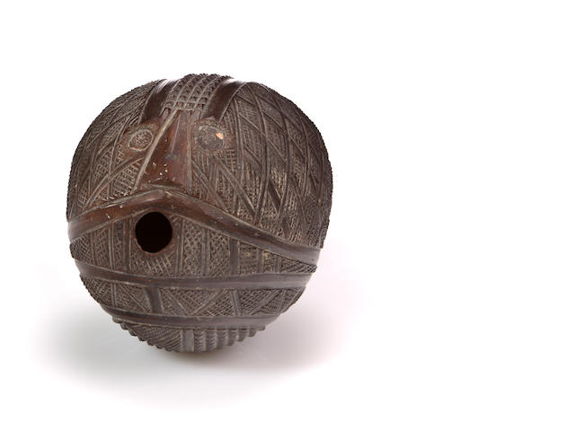 Tonga Islands Carved Coconut, Kingdom of Tonga