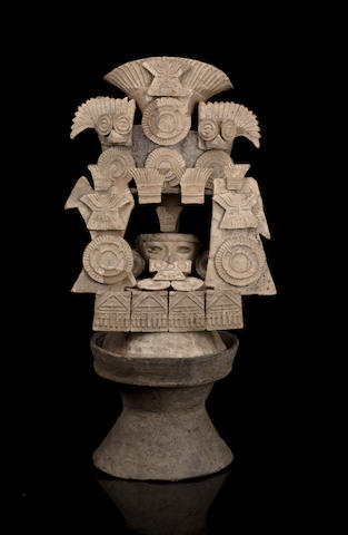 Teotihuacan Lidded Incensario, Teo III Style, Classic, ca. A.D. 450 - 650
