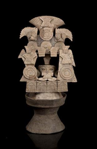 Teotihuacan Lidded Incensario, Teo III Style