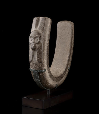 Veracruz Stone Yoke, Late Classic, ca. A.D. 550 - 950