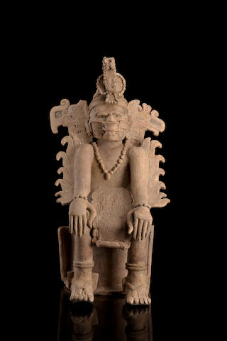Veracruz Seated Dignitary, Early Classic/Classic, ca. A.D. 200 - 800