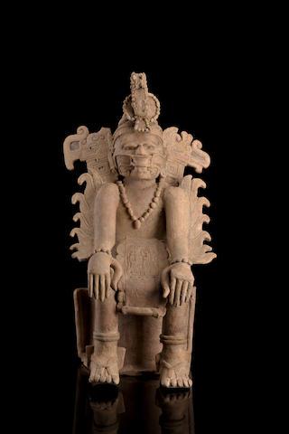 Veracruz Seated Dignitary, Early Classic/Classic, ca. A.D. 200 - 800