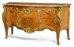 A fine Louis XV style gilt bronze mounted and marquetry inlaid walnut commode <br>Paul Sormani<br>fourth quarter 19th century
