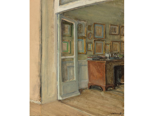 (n/a) Walter Gay (American, 1856-1937) The Artist's Study, 11 rue de l'Université 17 x 13 1/2in (43.2 x 34.3cm)