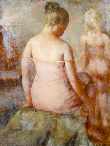 (n/a) Grigory Gluckmann (Russian/American, 1898-1973) Mother and daughter 16 1/2 x 12 1/2in