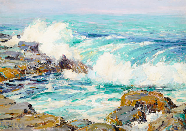 (n/a) Anna Althea Hills (American, 1882-1930) The emerald sea, 1926 10 x 14in