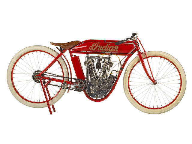 A Stephen Wright restoration, from an important Long Island collection,1912 Indian V-Twin Board-Track Racer Engine no. 75D900