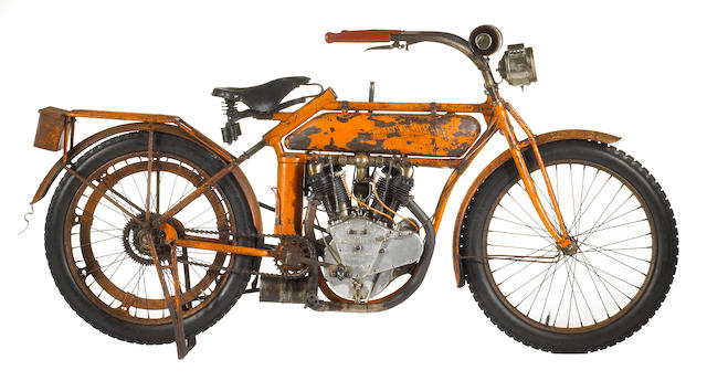 Early American icon, from an important Long Island collection,1913 Flying Merkel Model Seventy Twin Engine no. 8329